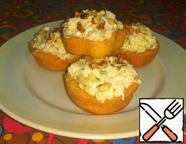 Cheese Tartlets with Chicken Salad Recipe