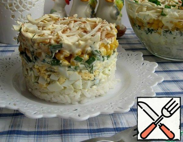 Salad with Rice and Eggs Recipe