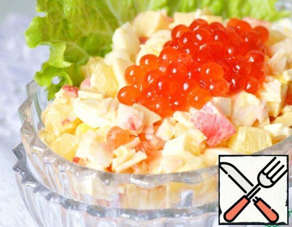 Crab Salad with Caviar Recipe