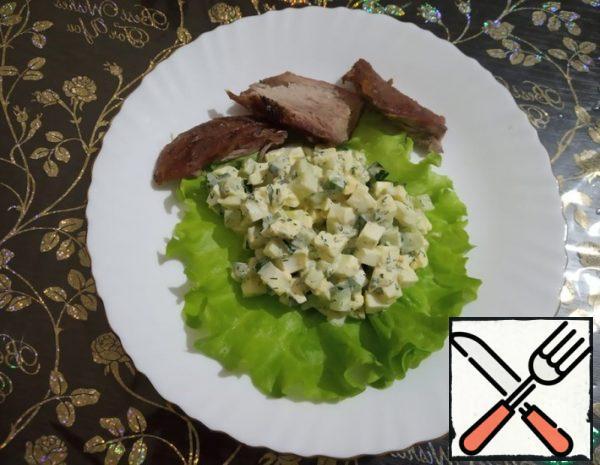 Salad of fresh Cucumbers and Eggs Recipe