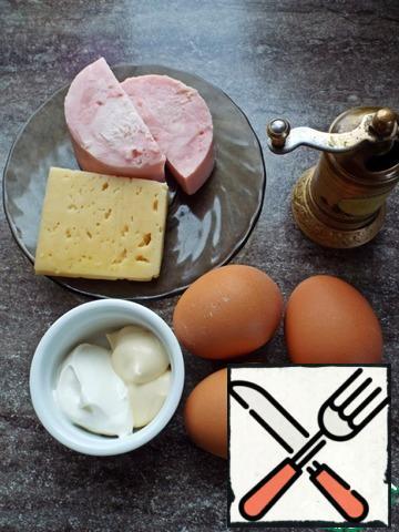 Boil the eggs.