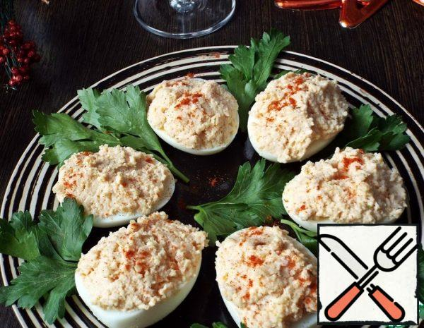 Eggs stuffed with Ham and Cheese Recipe