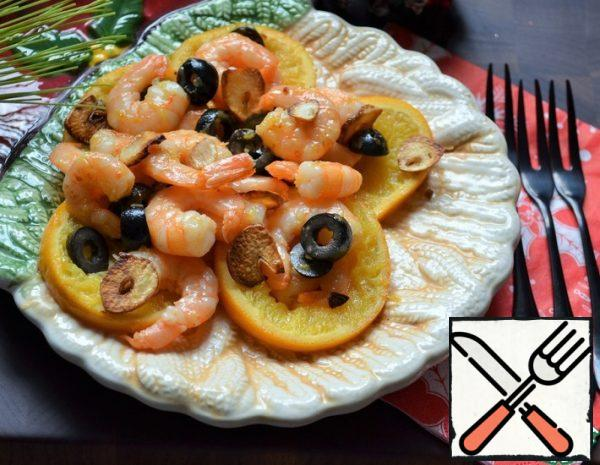 Shrimp with fried Oranges Recipe