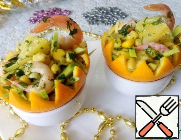 Salad in Orange Baskets Recipe