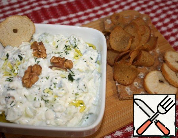 Cucumber, Cottage Cheese and Cheese Salad Recipe