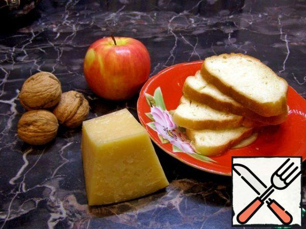 We will prepare all the necessary products. Excellent mustard or other loaf, cheese is preferably not very hard, fusible.