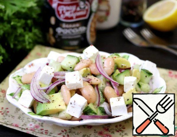 Salad with Avocado, Beans and Cheese Recipe