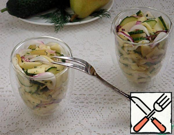 Savory Salad with Apples and Pears Recipe