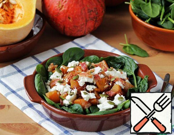 Warm Salad with Pumpkin and Bacon Recipe