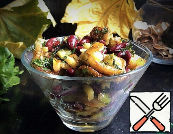 Bean Salad with Eggplant Recipe