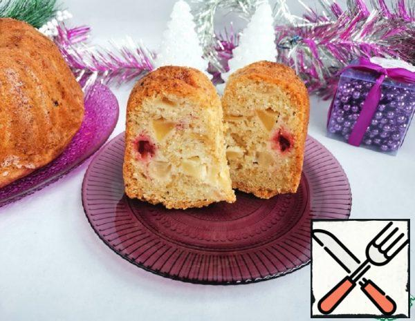 Apple Cupcake with Cranberries Recipe
