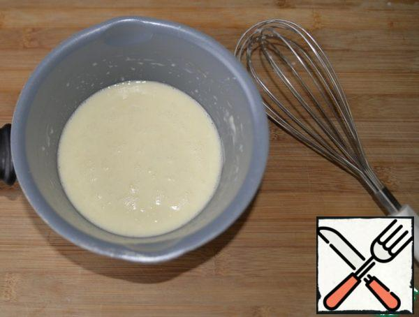 Beat with a whisk.