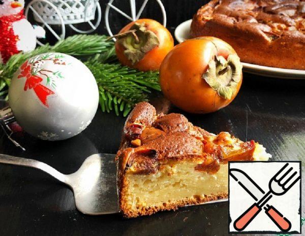Sour Cream Pie with Persimmon Recipe