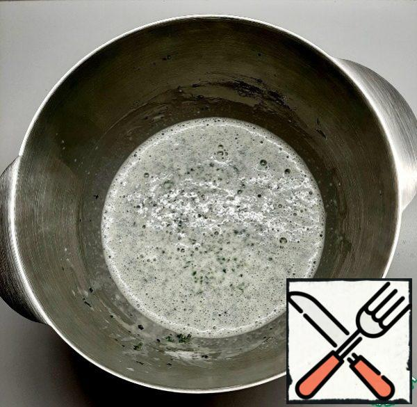 Add eggs, salt, sugar, and butter to the milk mixture. Stir. Add flour in portions and stir. Heat the second glass of milk to a boil, add a thin stream to the dough.