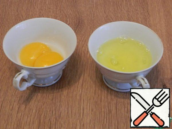 Separate the yolks from the whites.