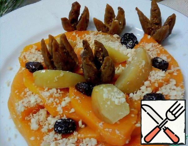 Baked Pumpkin with Raisins, Nuts, Cinnamon Recipe