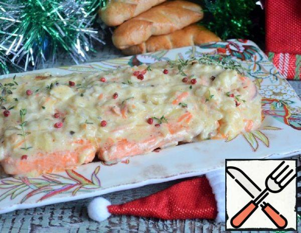 Trout in Cheese and Potato Sauce Recipe