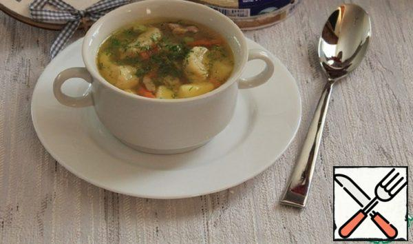 Chicken and Vegetable Soup with Cheese Dumplings Recipe