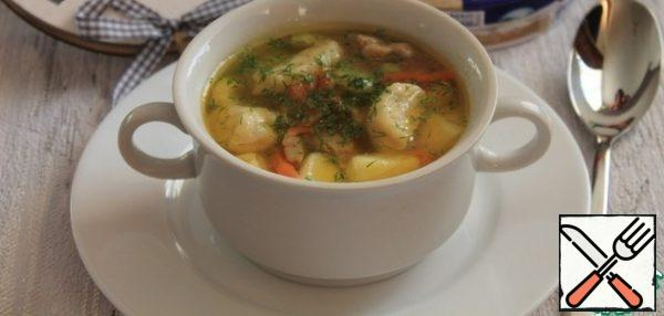 Pour the soup into cups, add the herbs and serve.Enjoy your meal!!!