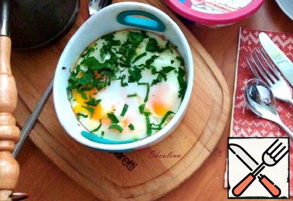 Baked Fried Eggs with Curd Cheese Recipe