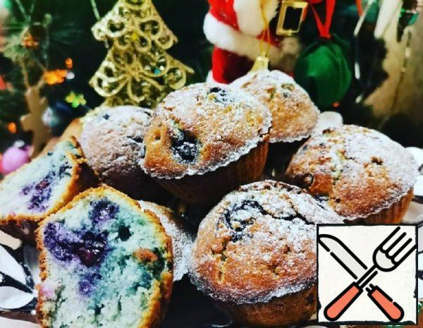 Blueberry Muffins with Rice Flour Recipe