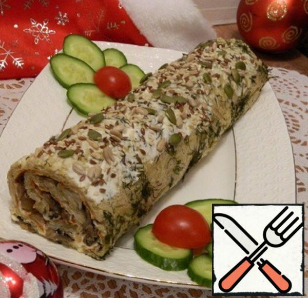 Potato Roll with Mushrooms and Cheese Recipe