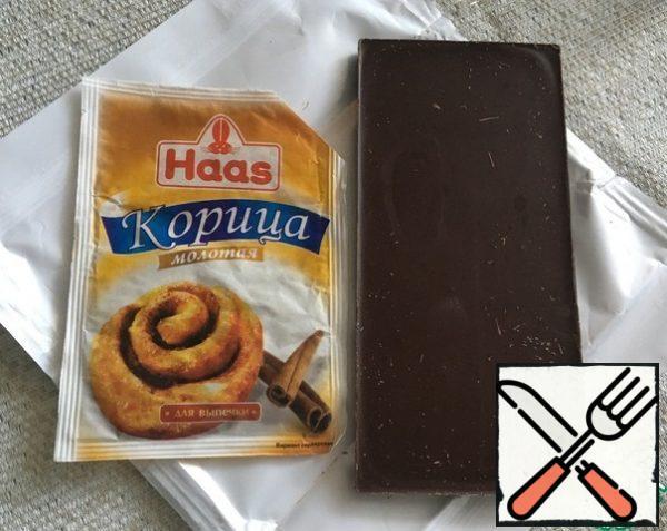 We take chocolate and cinnamon.