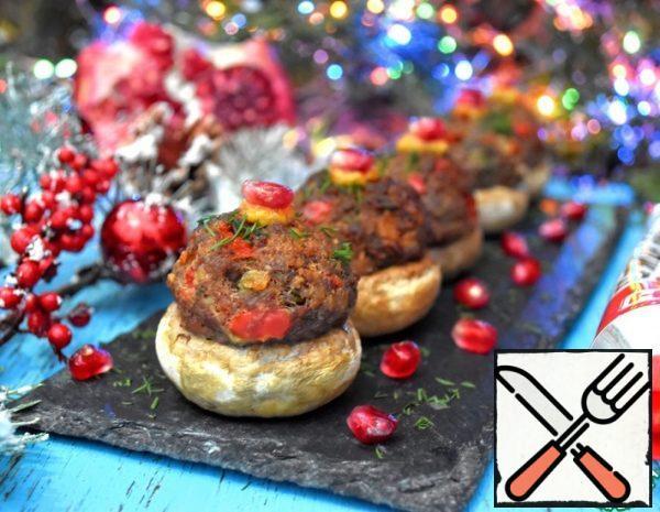 Mushrooms stuffed with Meatballs Recipe
