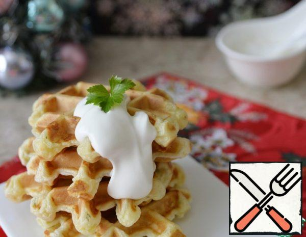 Cheese and Curd Waffles Recipe