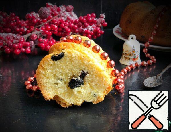 Lemon Cake with Raisins Recipe