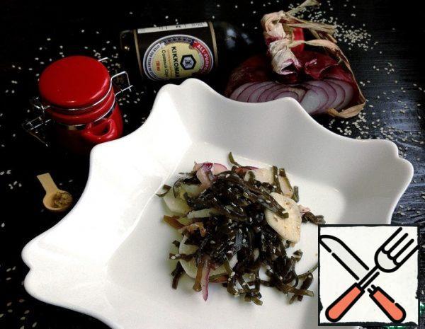 Salad with Daikon and Seaweed Recipe