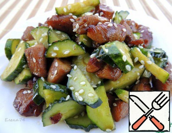 Chicken, Cucumber and Sesame Salad Recipe
