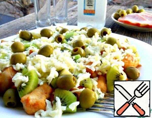 Salad with Kiwi and Chicken Recipe