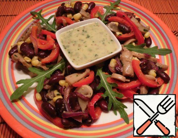 Salad with Beans and Mushrooms Recipe