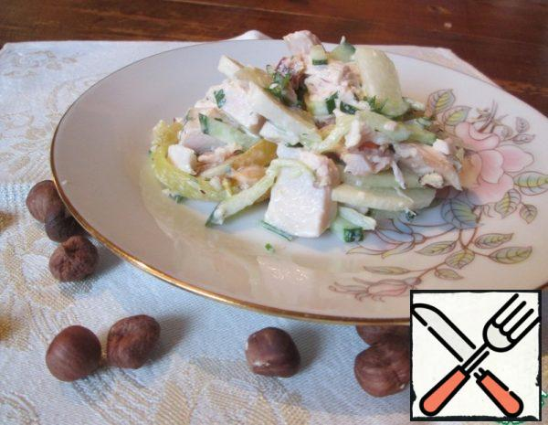Salad with Chicken and Pear Recipe
