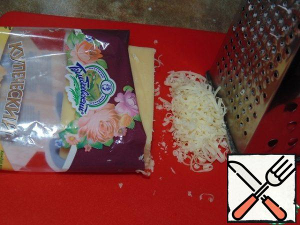 cheese grated on a fine grater.