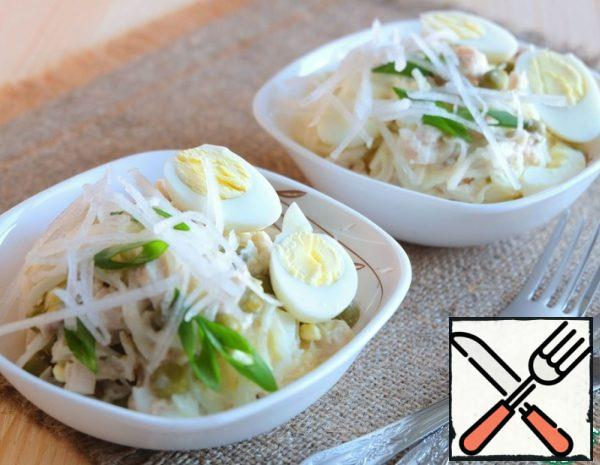 Salad with Daikon and Chicken Recipe
