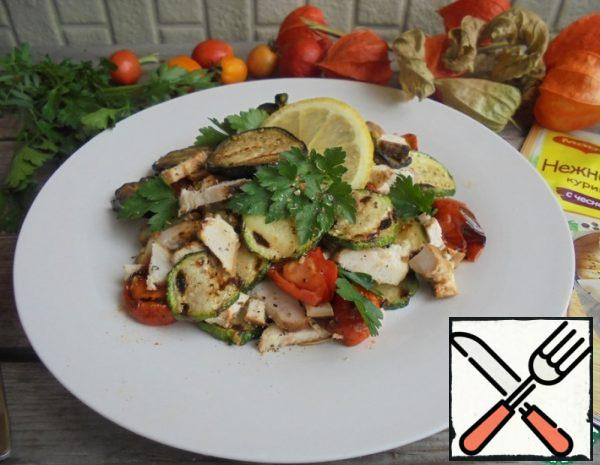 Vegetable Salad with Chicken Recipe
