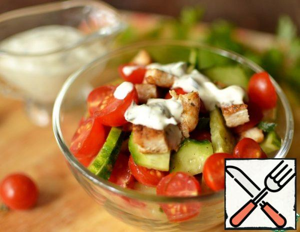 Salad with pickled Cucumbers Recipe