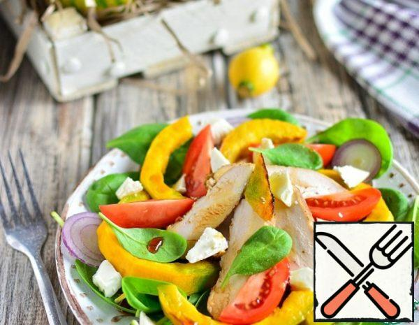Chicken Salad with baked Pumpkin Recipe