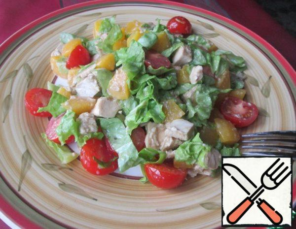 Salad with Chicken and Peaches Recipe