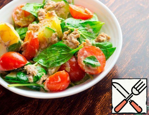 Salad with Potatoes and Tuna Recipe