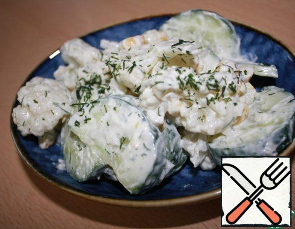 Cauliflower and Cucumber Salad Recipe