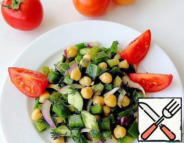 Salad with Chickpeas and Vegetables Recipe