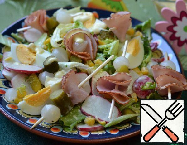 Salad with boiled Egg Recipe