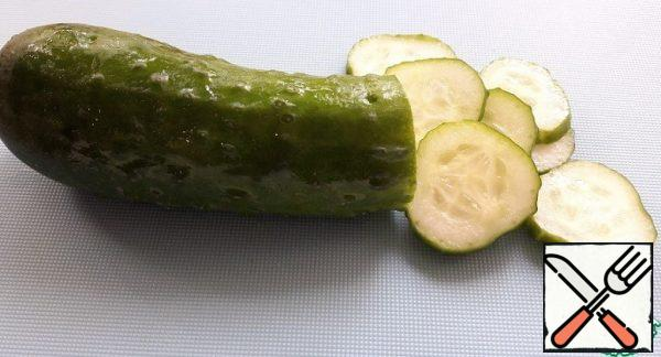 Cucumbers cut into slices.