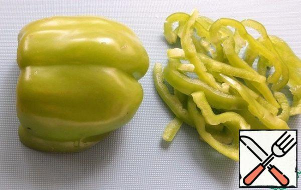 Bulgarian pepper-in strips.