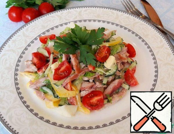 Salad with smoked Chicken Recipe