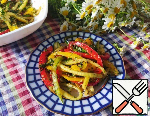 Cucumber and Sweet Pepper Salad Recipe