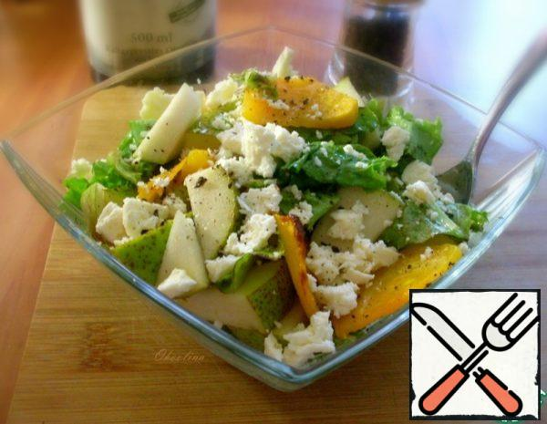 Salad with baked Pumpkin Recipe